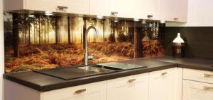 Фартук на кухню из стекла 22-000
