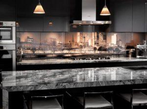 Кухонный фартук из стекла 018