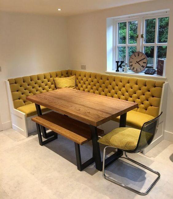 Угловой диван на кухню фото 020