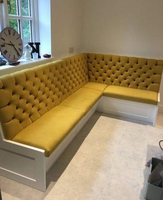 Угловой диван на кухню фото 018