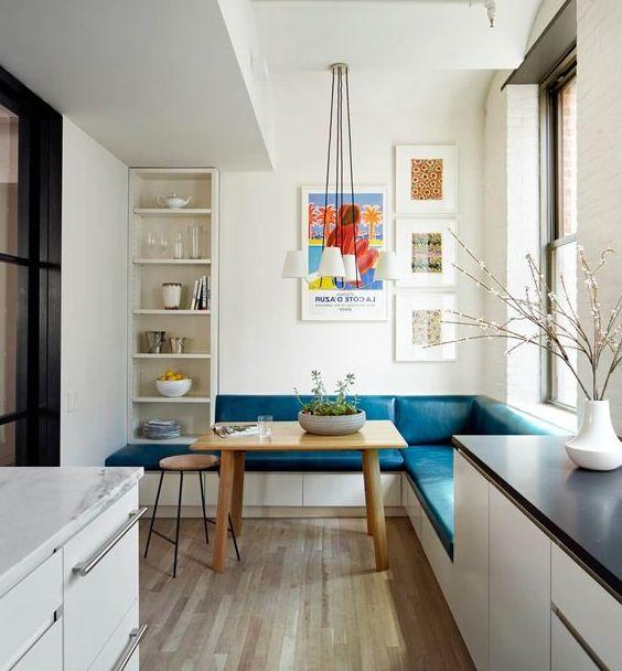 Угловой диван на кухню фото 017