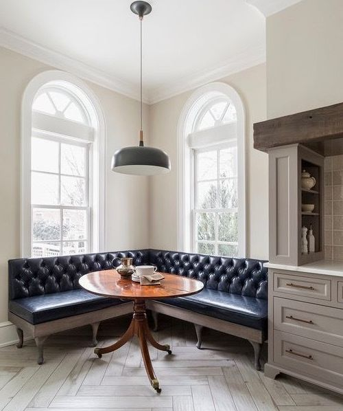 Угловой диван на кухню фото 016