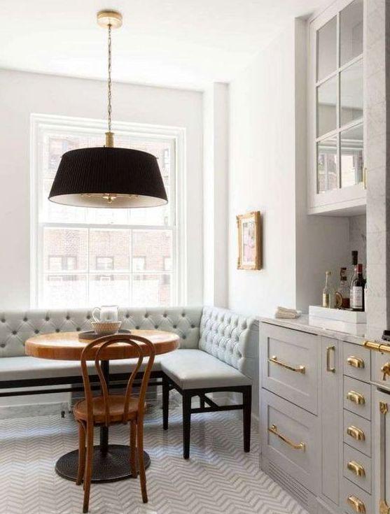 Угловой диван на кухню фото 014