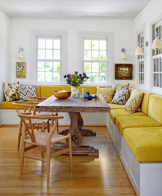 Угловой диван на кухню фото 011