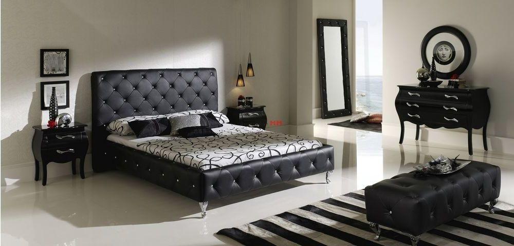 Кровать с мягким изголовьем в интерьере 08