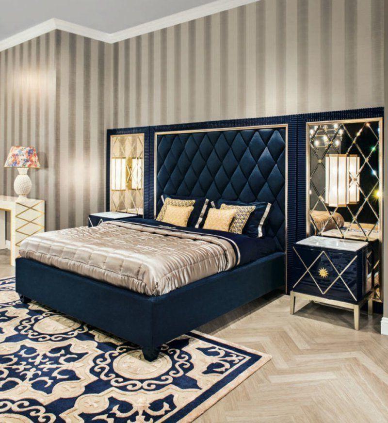 Кровать с мягким изголовьем в интерьере 15