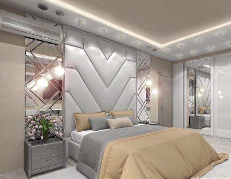 Кровать с мягкими панелями Амели
