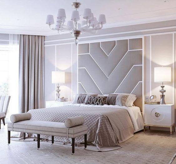 Кровать с мягкими панелями Николь
