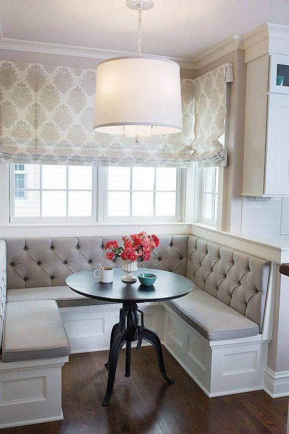 Угловой диван на кухню 016