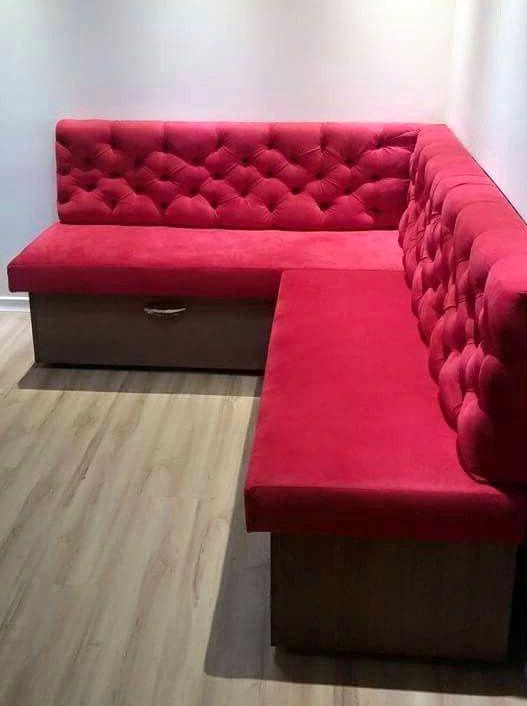 Угловой диван на кухню 017