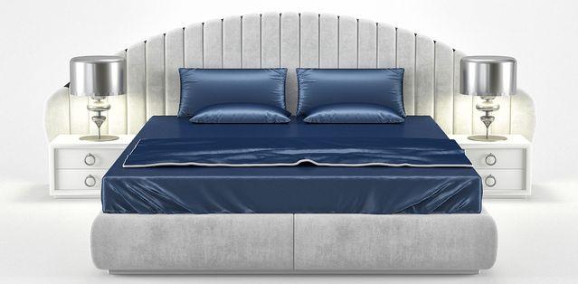 Кровать с мягкими панелями Odette