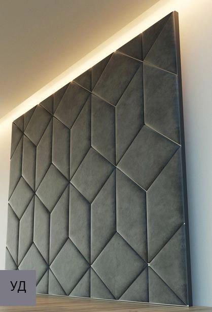 Мягкие стеновые панели Gray W046