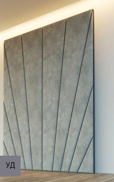 Мягкие стеновые панели Gray W043