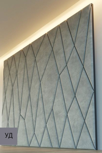 Мягкие стеновые панели Gray W039