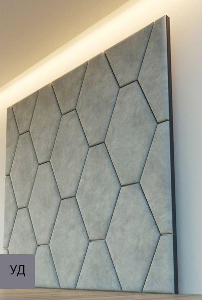 Мягкие стеновые панели Gray W036