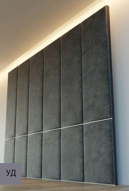 Мягкие панели для стен Gray W029