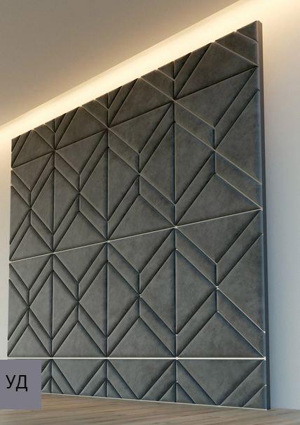 Мягкие панели для стен Gray W026