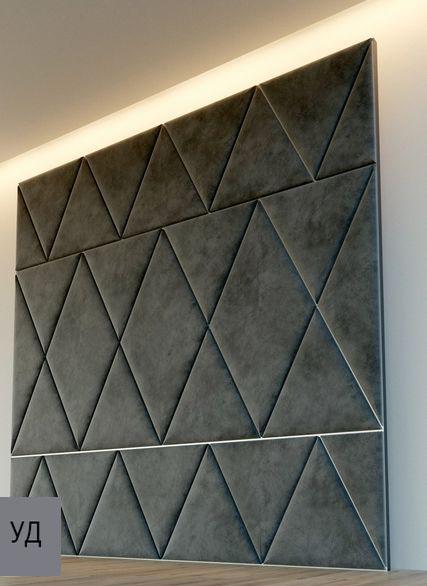 Мягкие панели для стен Gray W021