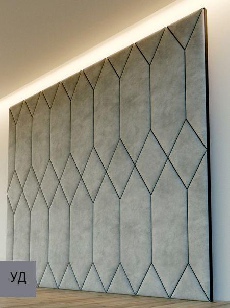 Мягкие панели для стен Gray W019