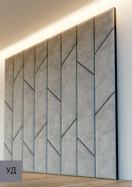 Мягкие панели для стен Gray W016