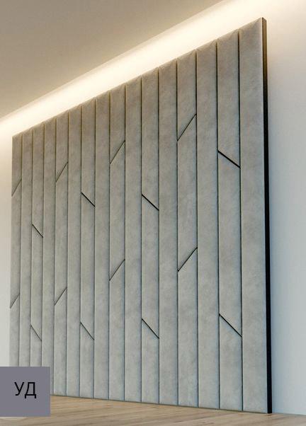 Мягкие панели для стен Gray W009