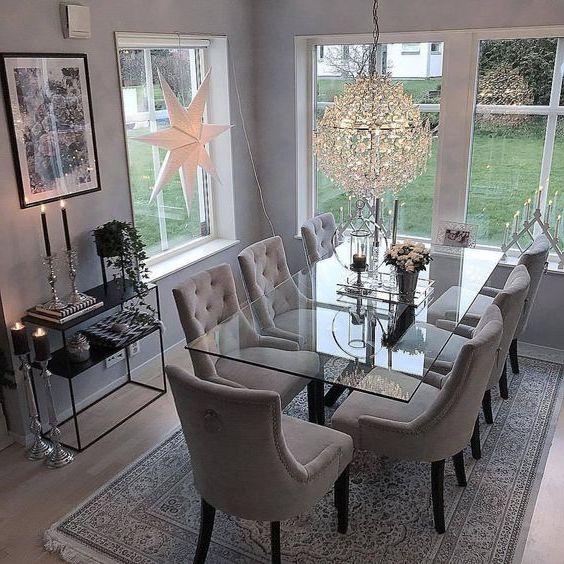 Кухонный стеклянный стол фото 051