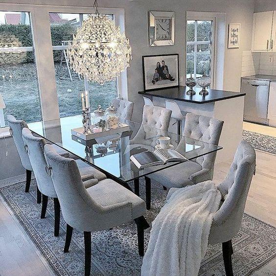 Кухонный стеклянный стол фото 052