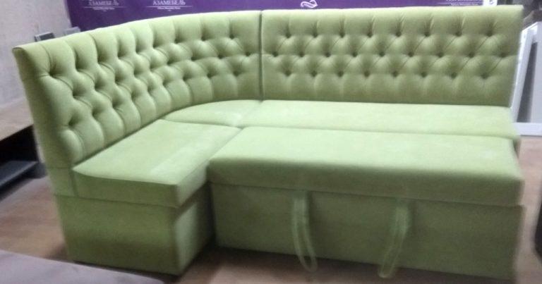 Угловой диван на кухню фото 57
