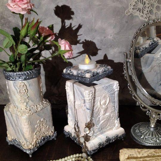 Декоративная ваза фото 017