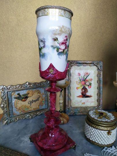Декоративная ваза фото 018