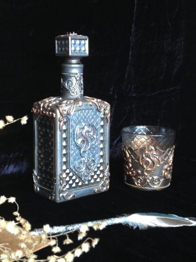 Декоративные бутылки фото 011