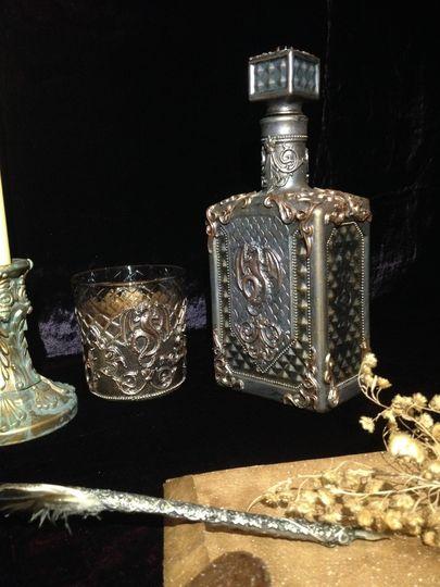 Декоративные бутылки фото 012