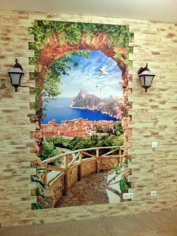 Фреска на стену фото 123