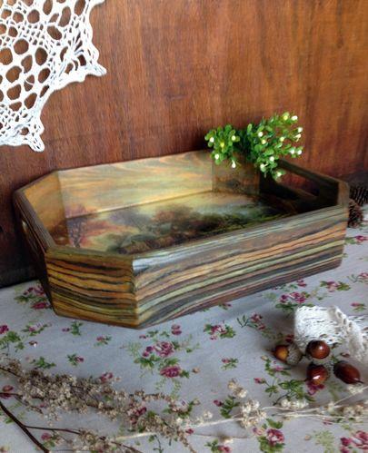 Поднос деревянный фото 013