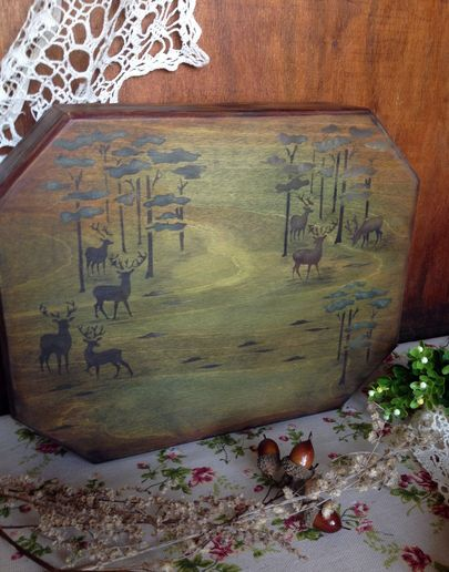 Поднос деревянный фото 016