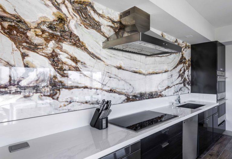 МДФ панели на кухню мрамор фото 011