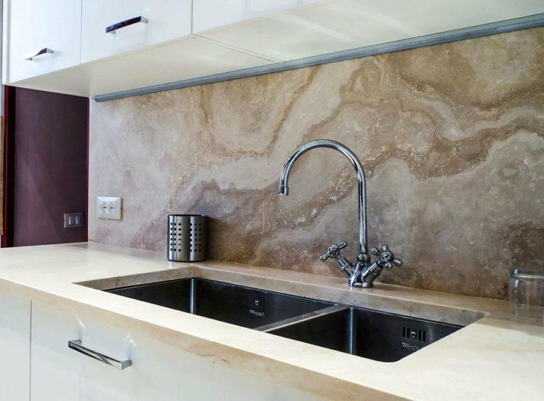 МДФ панели на кухню мрамор фото 012