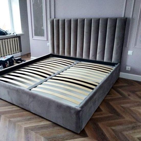 Кровать с большим мягким изголовьем фото 127