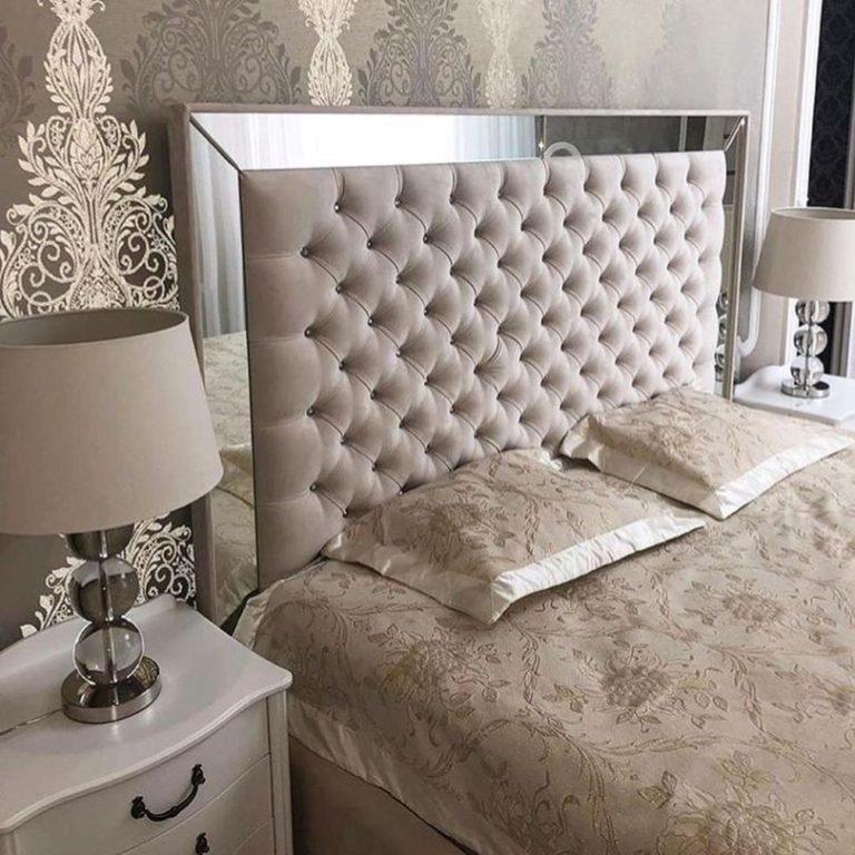 Кровать с большим мягким изголовьем фото 133
