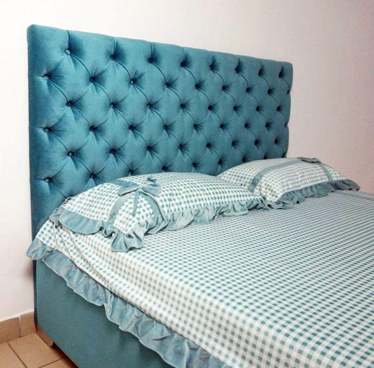 Кровать с большим мягким изголовьем фото 135