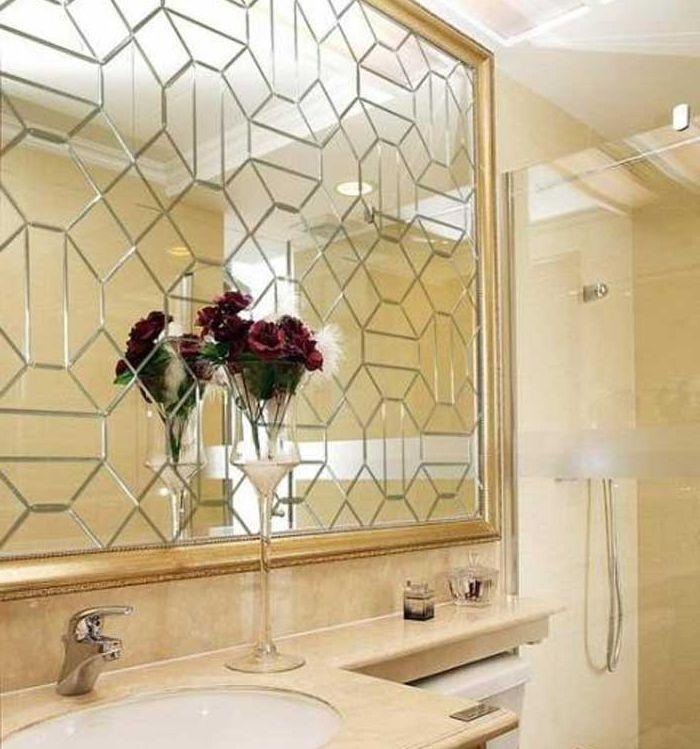 Зеркальное панно фото 012