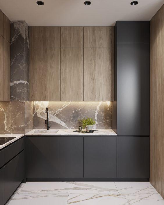 Панель для кухни под мрамор фото 901