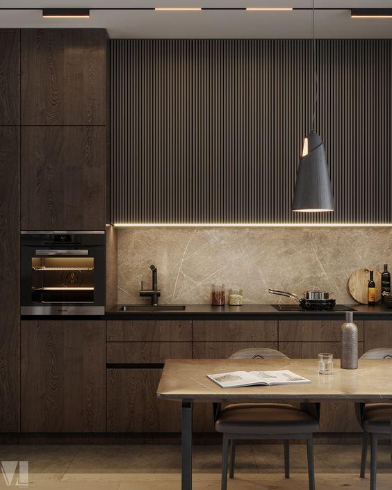 Панель для кухни под мрамор фото 907
