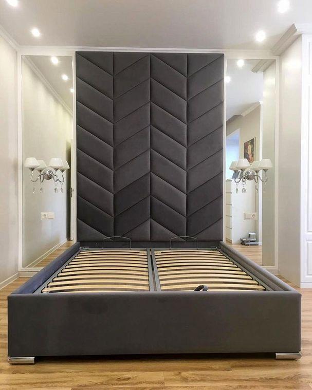 Кровать с мягким изголовьем фото 362