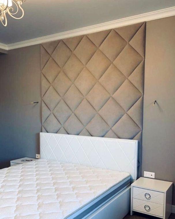 Кровать с мягким изголовьем фото 365
