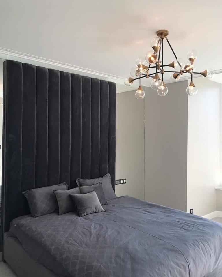 Кровать с мягким изголовьем фото 374