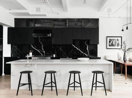 Фартук для кухни под черный мрамор фото 314