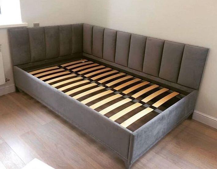 Кровать с мягким изголовьем фото 323