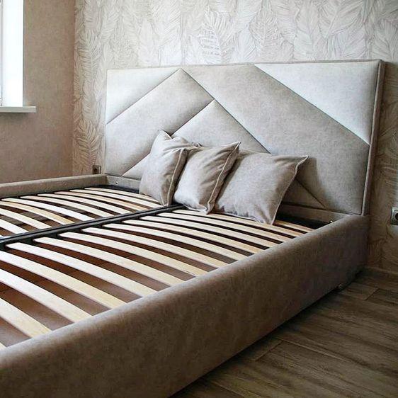 Кровать с мягким изголовьем фото 334
