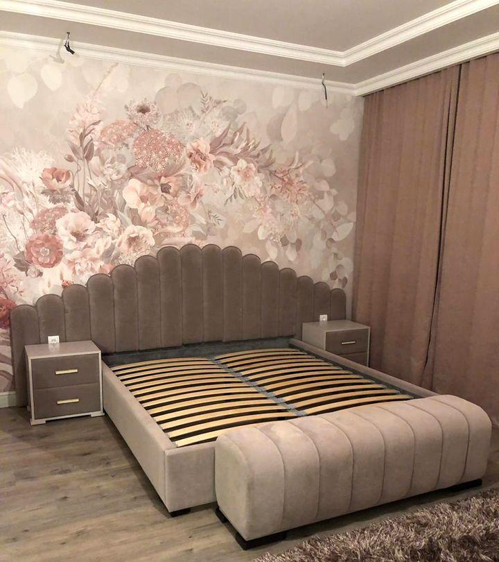 Кровать с мягким изголовьем фото 131